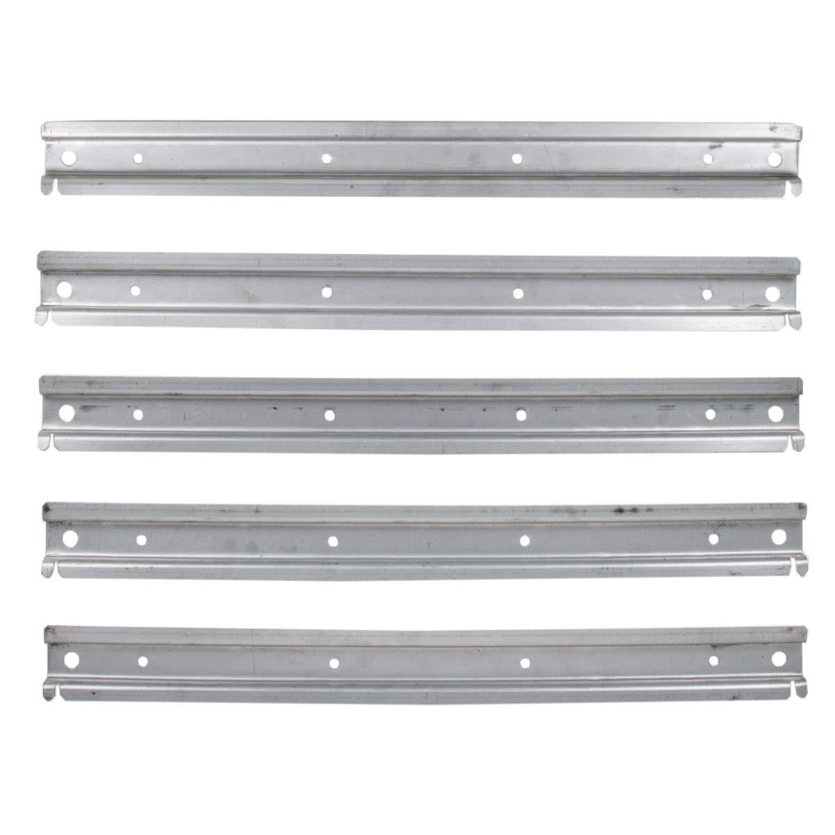 5 St/ück universelle Wandleiste aus Metall f/ür Lagerboxen und Schraubenkisten Werkstattwand