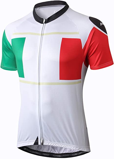 Alpediaa Hombres Manga Corta Camiseta Bicicleta Camisa Ciclismo ...