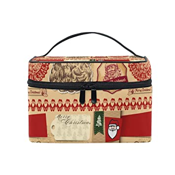 Amazon.com   Santa Claus Fashion HeadbandPortable Cosmetic Toiletry Bags  cosmetic travel bag Wash Bags professional cosmetic   Beauty ef8bedafec5d0