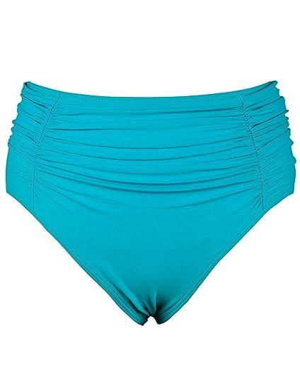 516fb91d89 Firpearl Women's Swimsuit Bottom High Waist Swim Brief Ruched Tankini  Bikini Bottom