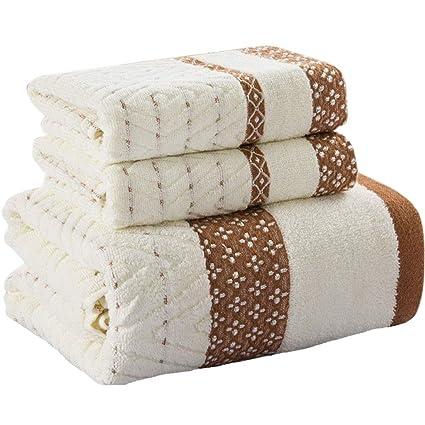 Juego de baño de Toalla Absorbente Suave de algodón para el hogar de Tres Piezas (