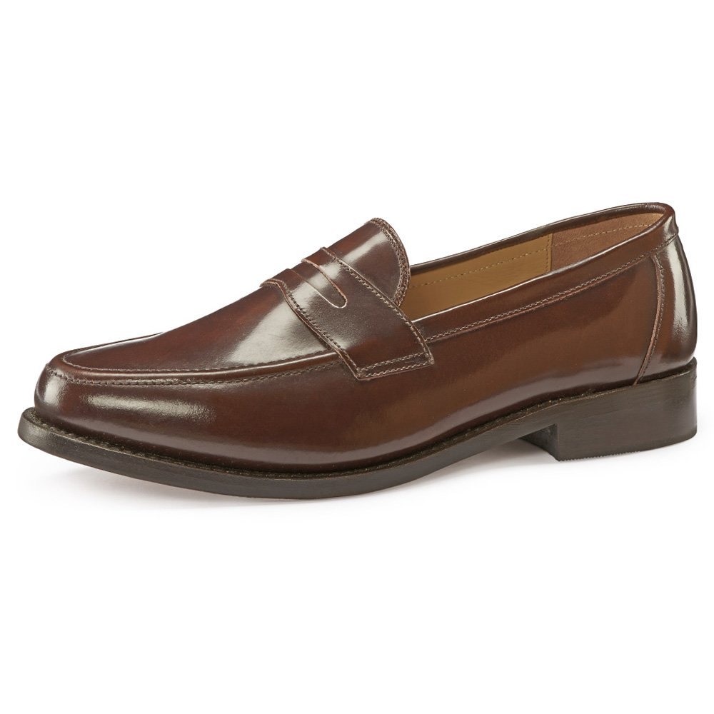 1950s Men's Clothing Samuel Windsor Mens Handmade Goodyear Welted Slip-On Penny Loafer Leather Shoes in Black Brown Brown Suede Dark Brown Suede Black Suede £45.45 AT vintagedancer.com