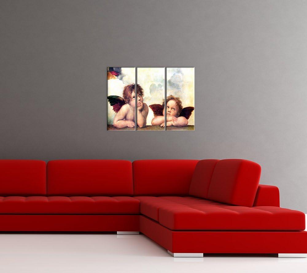 Tableau Toile Photo sur Toile Toile d/éco imprim/ée Raffael Vieux Ma/îtres Bilderdepot24 Image de Toile 20x20 cm Images sur Toile D/étail Sixtine Madonna Ange I