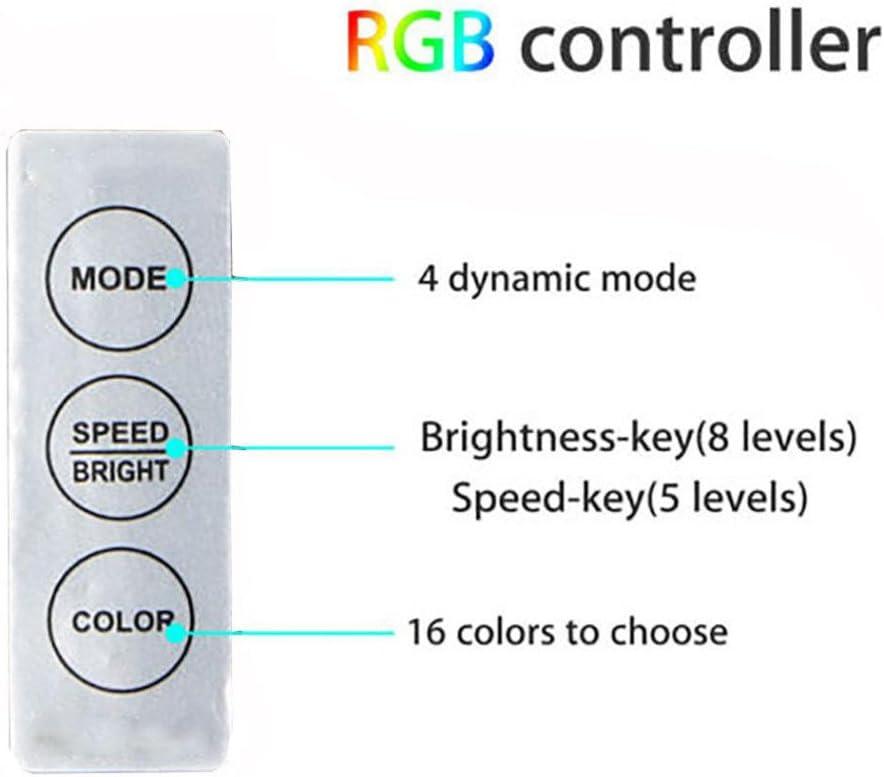 Makeupstory USB Powered RGB 5050 LED Strip Lighting for TV Computer Background Light One Size, Black