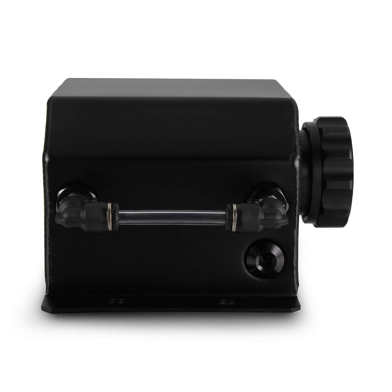 Dep/ósito de aluminio universal para dep/ósito de aceite con tap/ón de drenaje Madlife Garage 1 L, 1000 ml color negro