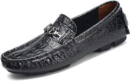 Penny Loafers en Cuir à Motif Crocodile Classique pour