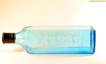 BoMBAY SAPPHIRE - Botella de cereales para jardinería o aperitivos reciclados