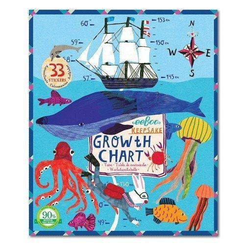 Keepsake Growth Chart, Big Blue Whale by eeBoo by eeBoo 867569WHL