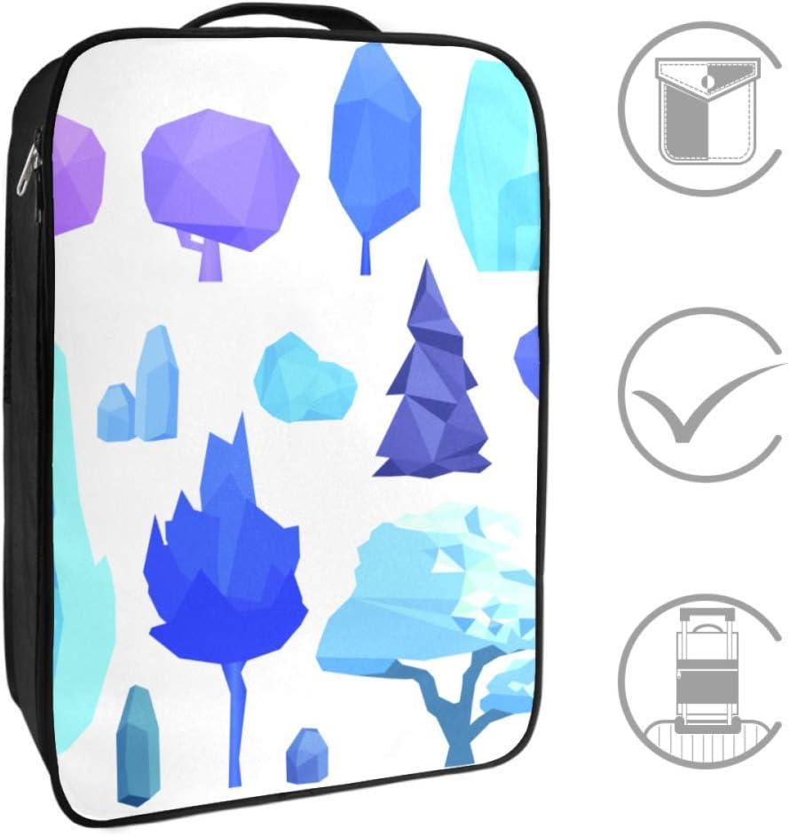 Bolsa de zapatos plegable de viaje con diseño de árbol y piedras, multifunción, para zapatos de viaje, con cremallera, bolsa de zapatos de cabina