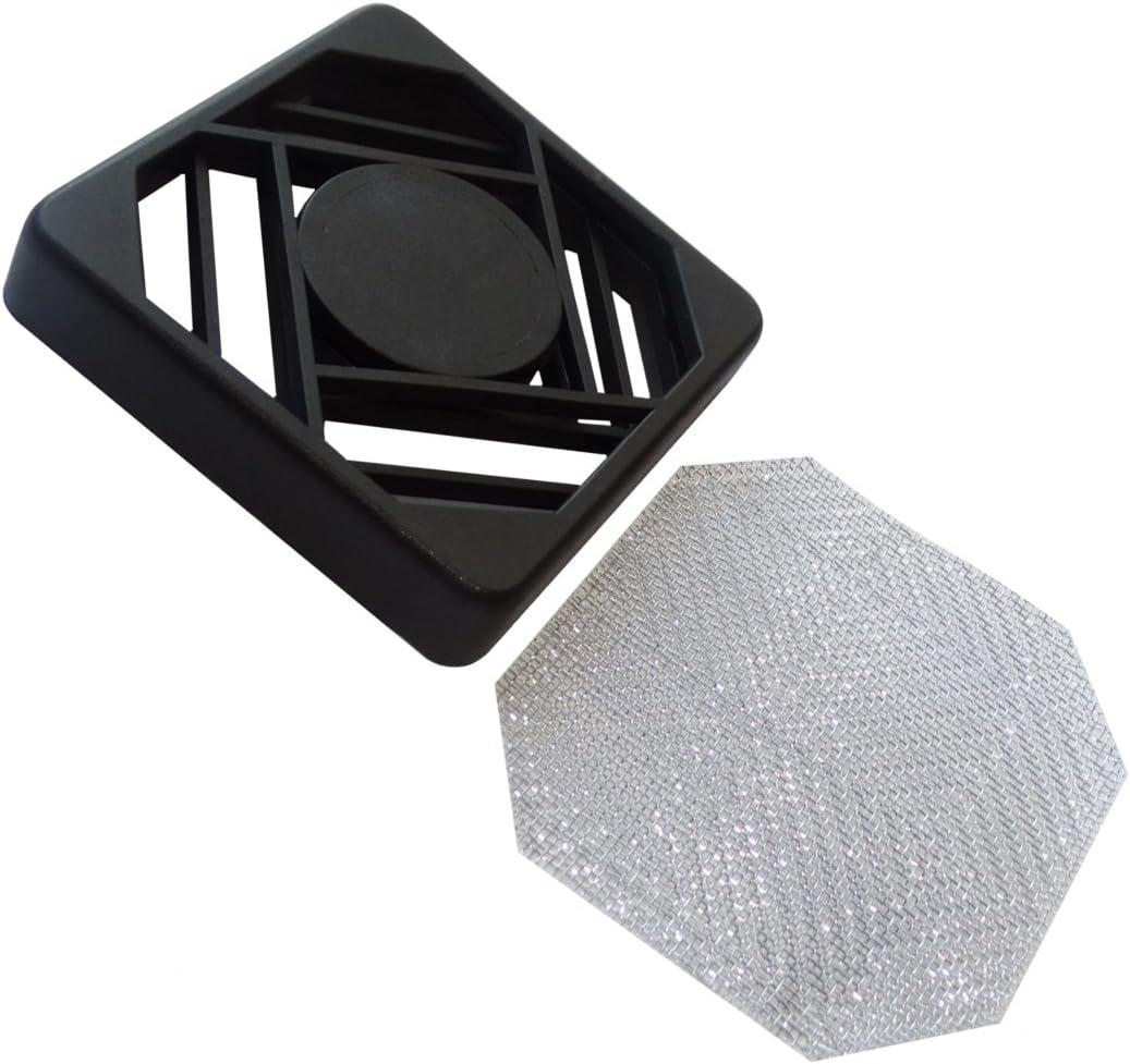 AERZETIX Rejilla de protección 60x60mm ventilación con blindaje ...