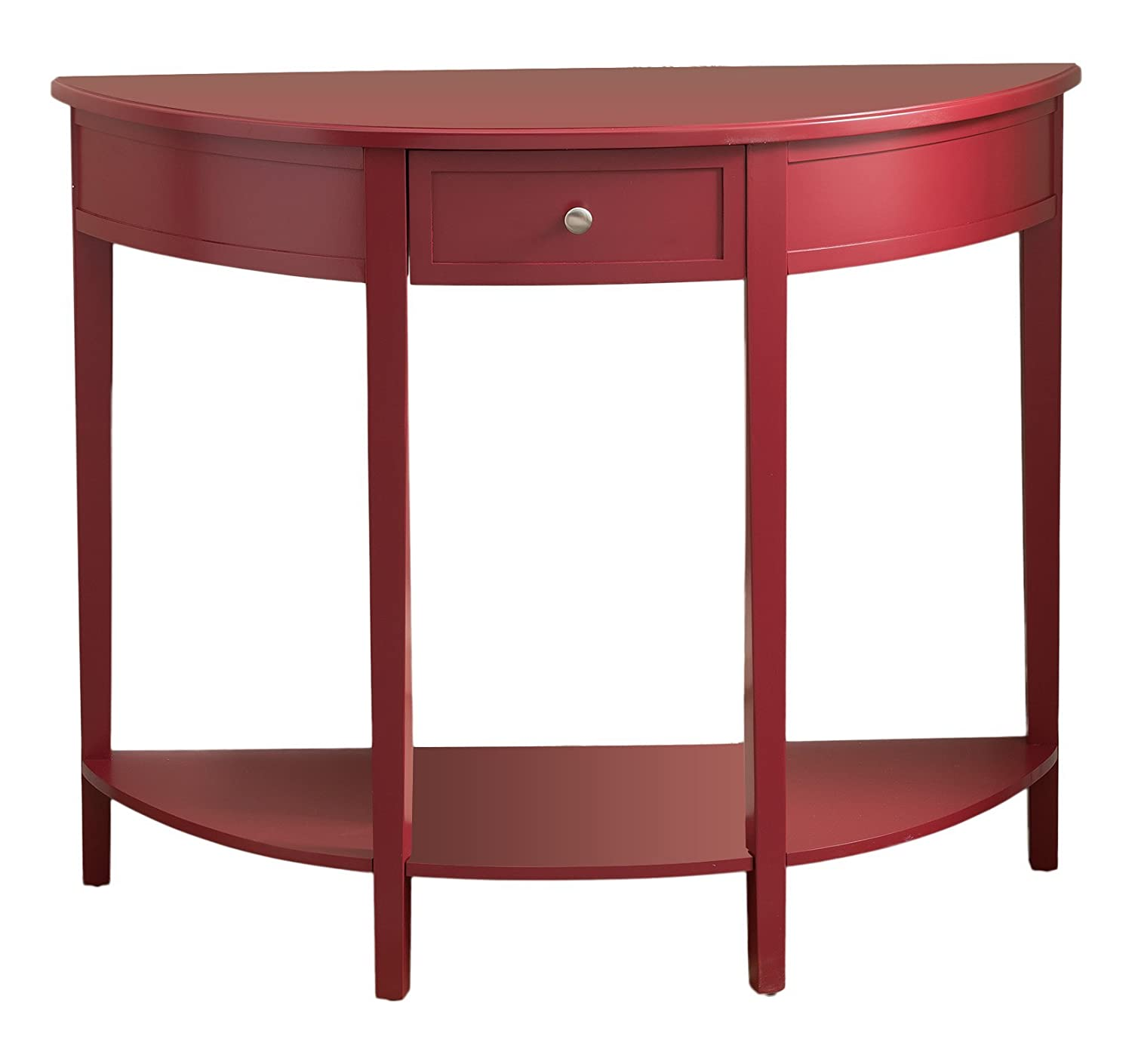 Amazon.com: Kings Brand Furniture Red Finish Wood Half Round ...