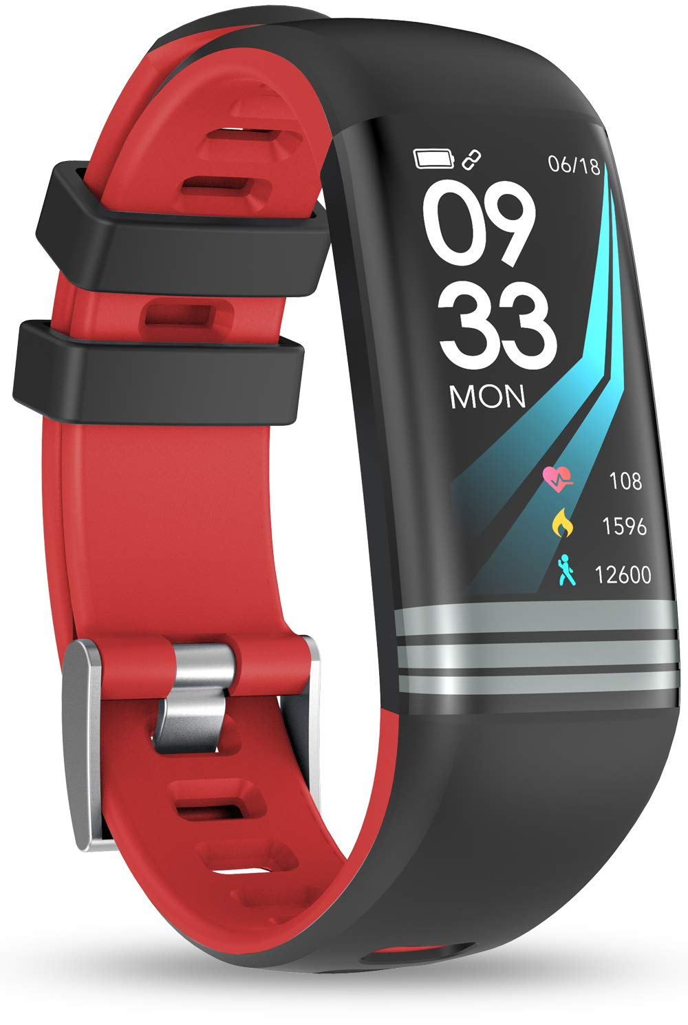 Smaate Fitness Tracker for Women, Smart Watch with Heart Rate Monitor HR, Pedometers and Calories, Activity Tracker Watch with Sleep Monitor and SNS Notification, for Girls, Red