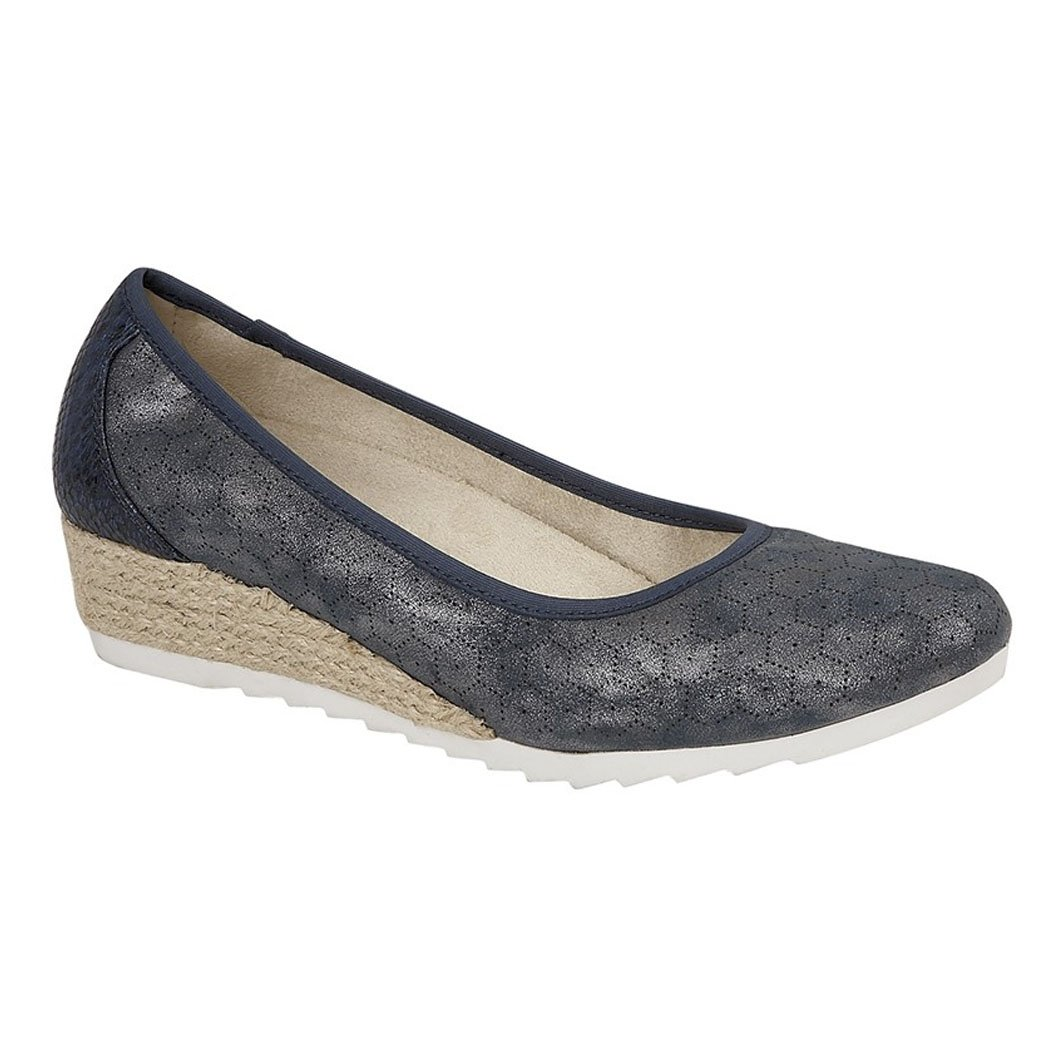 Cipriata Mary Jane Basse Donna  Blue Metallic