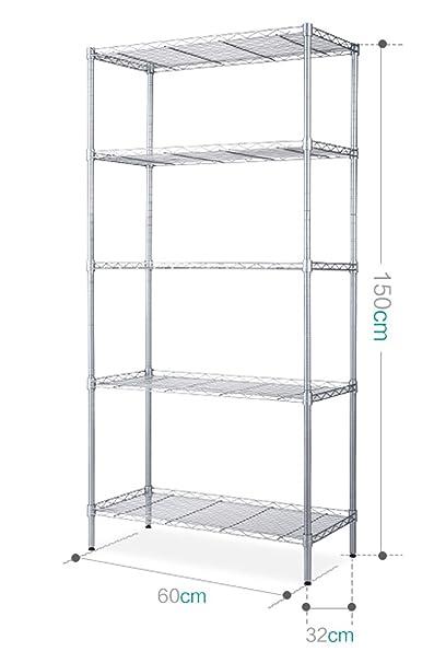 Amazon.com: KEMEI Scaffalature Unità Free-Standing Organizzazione ...