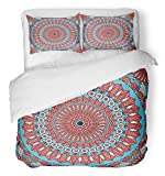 Emvency Bedsure Duvet Cover Set Closure Printed Abstract Colorful Ethnic Patterned Arabesque Ancient Antique Arab Arabian Arabic Decorative Breathable Bedding With 2 Pillow Shams Full/Queen Size