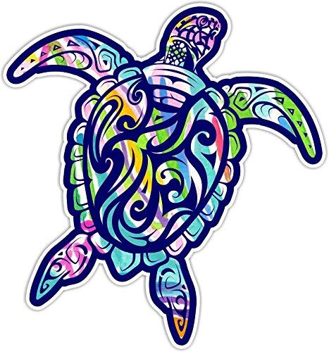 (Sea Turtle V3 Car Truck Window Laptop Vinyl Decal Sticker (Paradise) )
