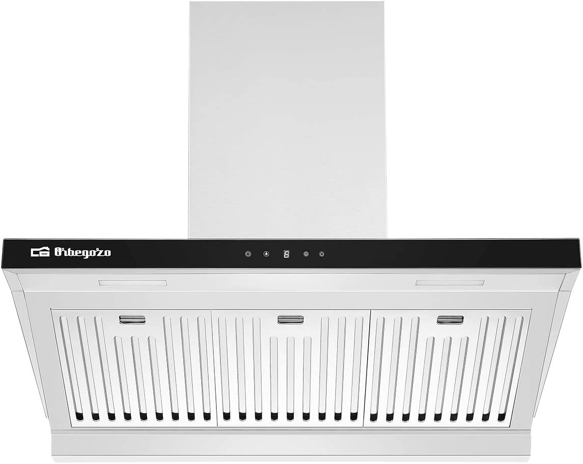 Orbegozo DS 63190 IN - Campana extractora 90 cm, Clase A, filtros de aluminio profesionales desmontables, extracción 636,2 m3/h, iluminación LED, 3 niveles de potencia: 252.89: Amazon.es: Hogar