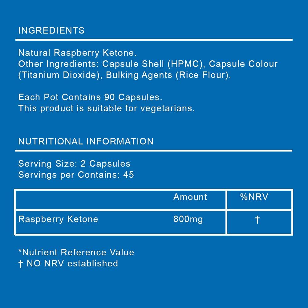 Cetona de frambuesa FORZA Fitness - quemagrasas natural - 90 cápsulas