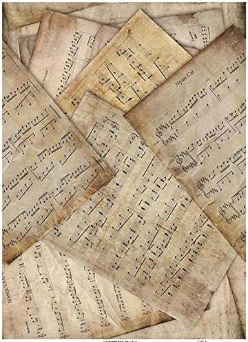 Motiv-Strohseide Le f/élin Blanc Strohseidenpapier Zita`s Creative Reispapier A4 Decoupage Papier