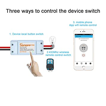 Sonoff Homekit Smart Switch Module Timer Wifi Switch + RF-WiFi 433Mhz Wireless Remote Controler