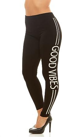 Amazon Com Solo Una Mujer Leggings Pantalones Lado Divertido Impresion Color Negro L Xl Clothing