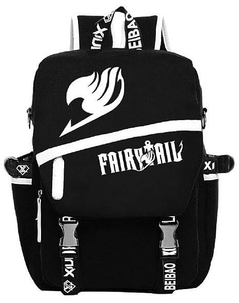 15f5936b053 YOYOSHome Anime Fairy Tail Cosplay Luminous Rucksack Backpack School Bag
