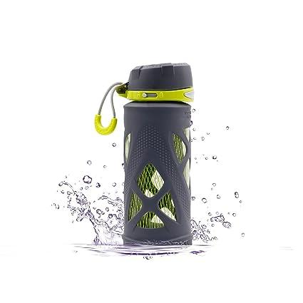 Szplus - Botella de vidrio de 650ml / 480ml, para deporte