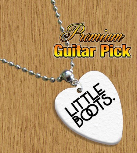 Little Boots Chain / Necklace Bass Guitar Pick Both Sides Printed