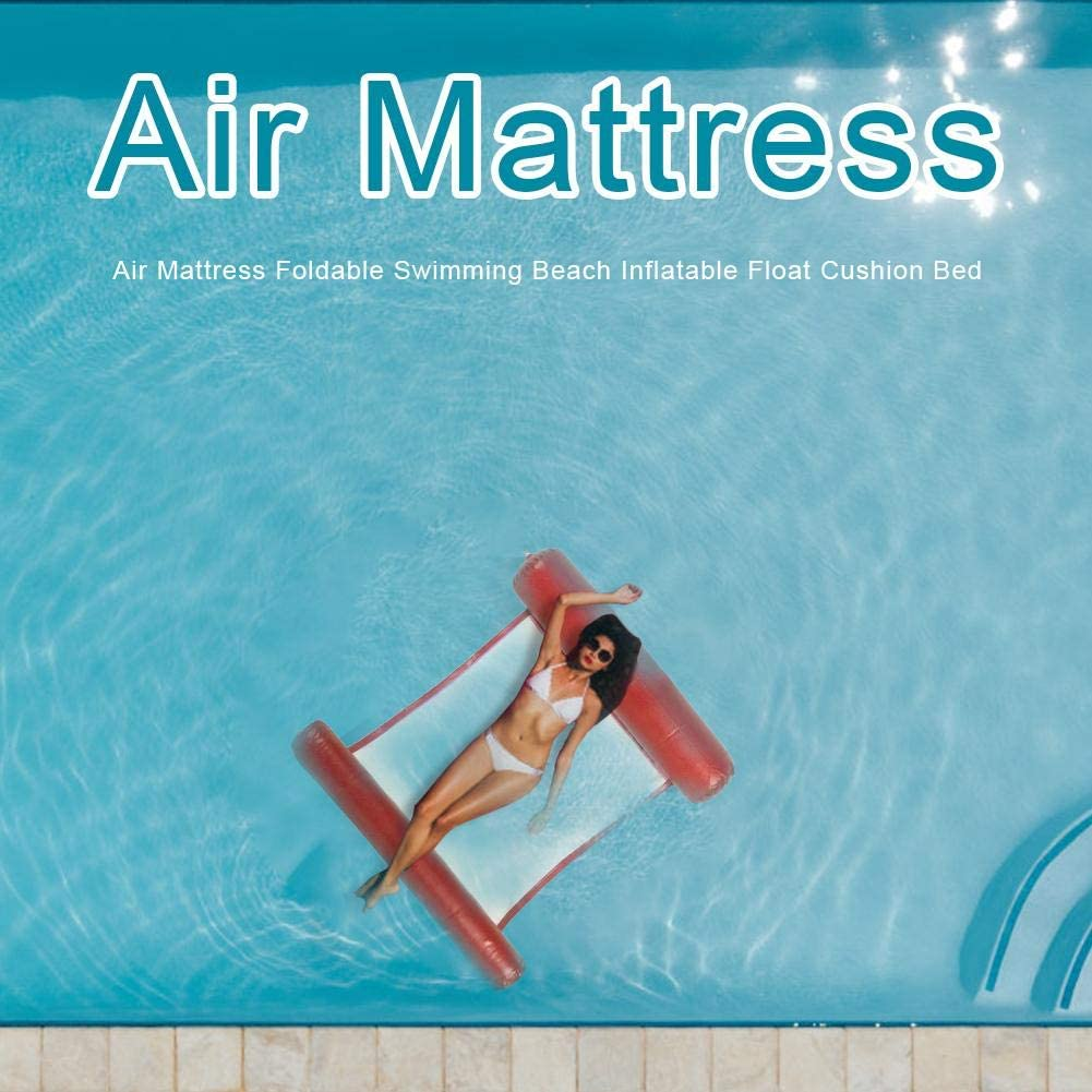 Air Mattress Foldable Swimming Beach Inflatable Float Cushion Bed Yellow