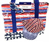 Patriotic Red White Blue Adjustable Cap Glasses 17'' x 14'' x 4.5'' Bag
