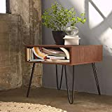 WINSOON Ship From US Modern Look Furniture DIY Home Dining Industrial Black Metal 2 Rod Hairpin Coffee Table Legs Set of Four (12 inch / 30cm)