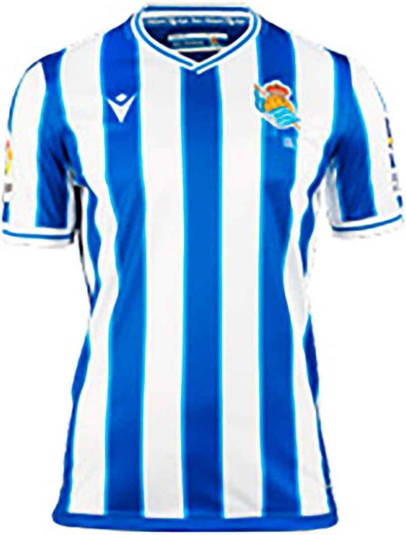 Macron Real Sociedad Primera Equipaci/ón Authentic 2020-2021 Ni/ño Camiseta Royal-White