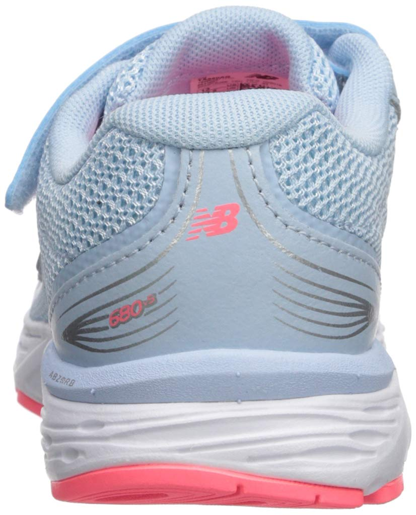 New Balance Girls' 680v5 Hook and Loop Running Shoe air/Guava 2 M US Infant by New Balance (Image #2)