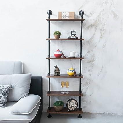 Amazon Com Fof Industrial Rustic Modern Wood Ladder Pipe