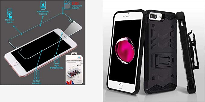 buy online 48558 76147 Amazon.com: Combo pack Tempered Glass Screen Protector (2.5D) for ...