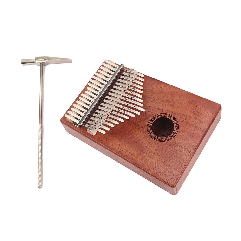 SIKIWIND 17-Key Mahogany Thumb Piano Africian Kalimba Mbira Wood Musical Instrument