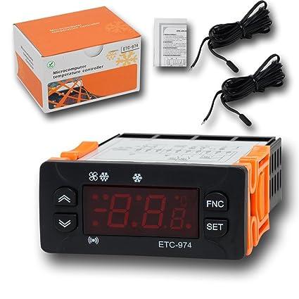Controlador de temperatura, risepro termostato Digital calibración de temperatura y alarma de temperatura con longitud