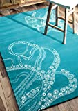 Nuloom 5′ x 8′ Hand Tufted Octopus Tail Rug in Blue Waters Review
