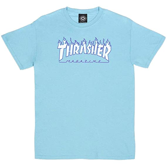 6c41758c7987 Amazon.com  Thrasher Flame Short Sleeve T-Shirt  Clothing