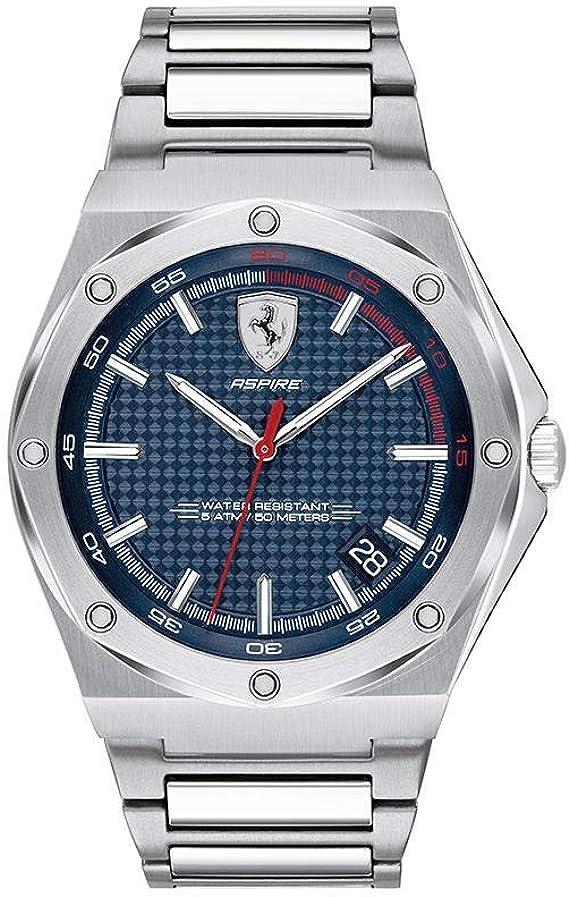 Scuderia Ferrari 830530 Men S Analogue Quartz Watch With Stainless Steel Strap Amazon De Uhren