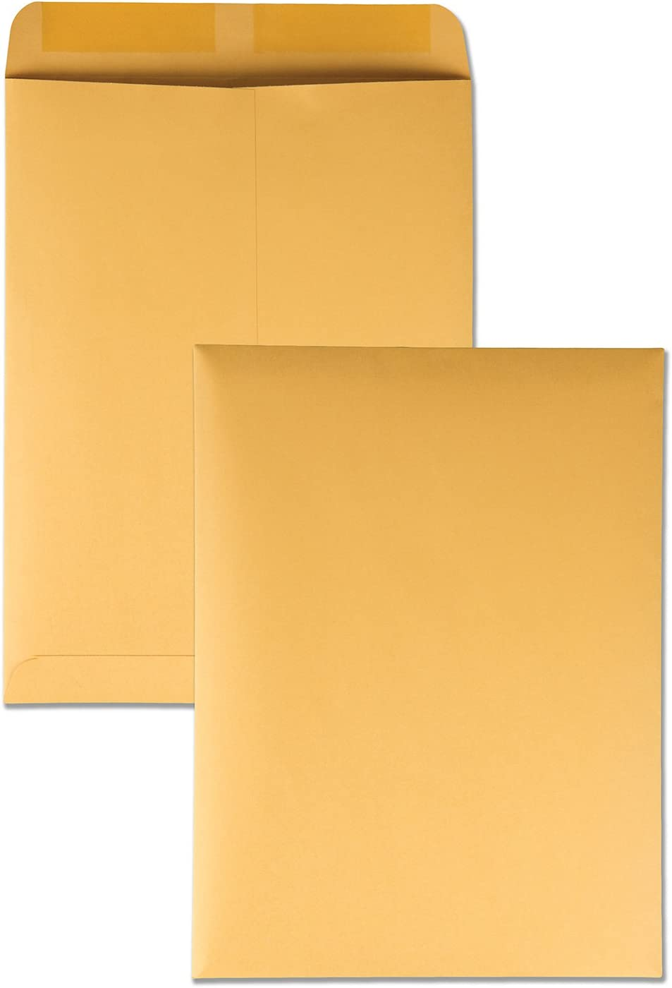 Quality Park 41465 Quality Park Catalog Envelopes, Heavyweight/Gummed, 9x12, 28lb, Kraft, 250/Box (QUA41465) : Office Products