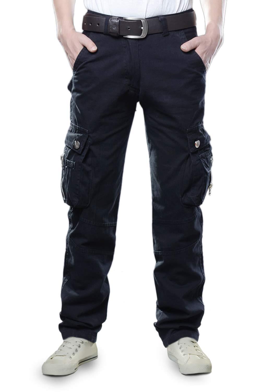 TAIPOVE Hombre Pantalón Cargo Pantalón de Trabajo Mutilbosillos Laboral Casual Recto Suelto