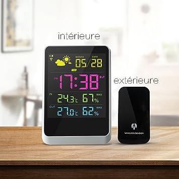 cosansyslcd horloge station météo numériques prévisions capteurs
