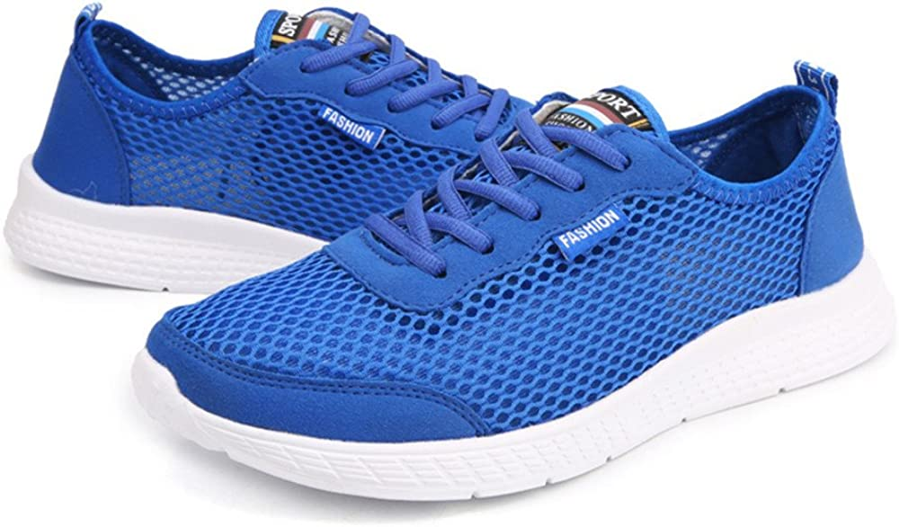 DADAZE Mens Women Mesh Trainers Athletic Gym Sporting Shoe Lace Up Lightweight Fitness Shoes