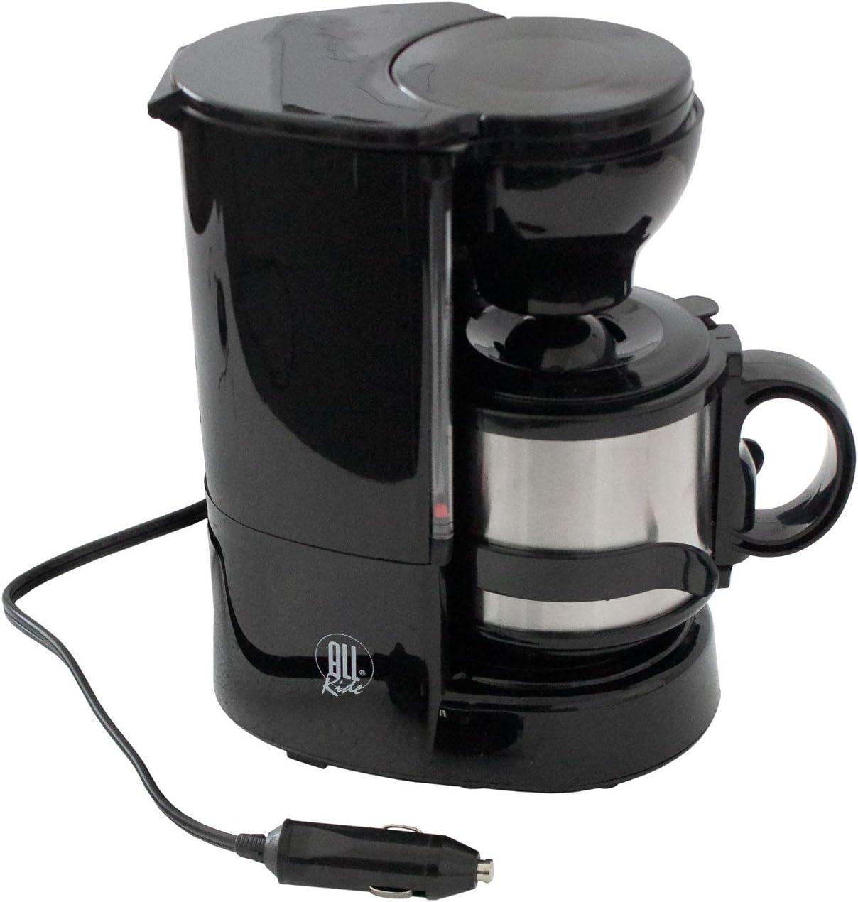 Cafetera con Taza térmica, Incluye Soporte de Pared, Filtro Permanente, 24 V/300 W – Cafetera eléctrica de Viaje Camping Cafetera Cafetera de Filtro: Amazon.es ...