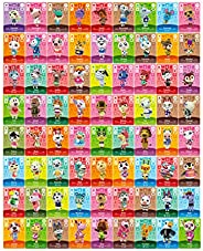 Animal Crossing New Horizons Game Rare Villager Amiibo Cards New Leaf ,72 pcs NFC Game Cards with Crystal Case