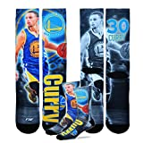 Golden State Warriors NBA Drive Crew Socks 1 Pair - Stephen Curry (Large)