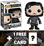 Jon Snow (Castle Black): Funko POP! x Game of Thrones Vinyl Figure + 1 FREE Official Game of Thrones Trading Card Bundle