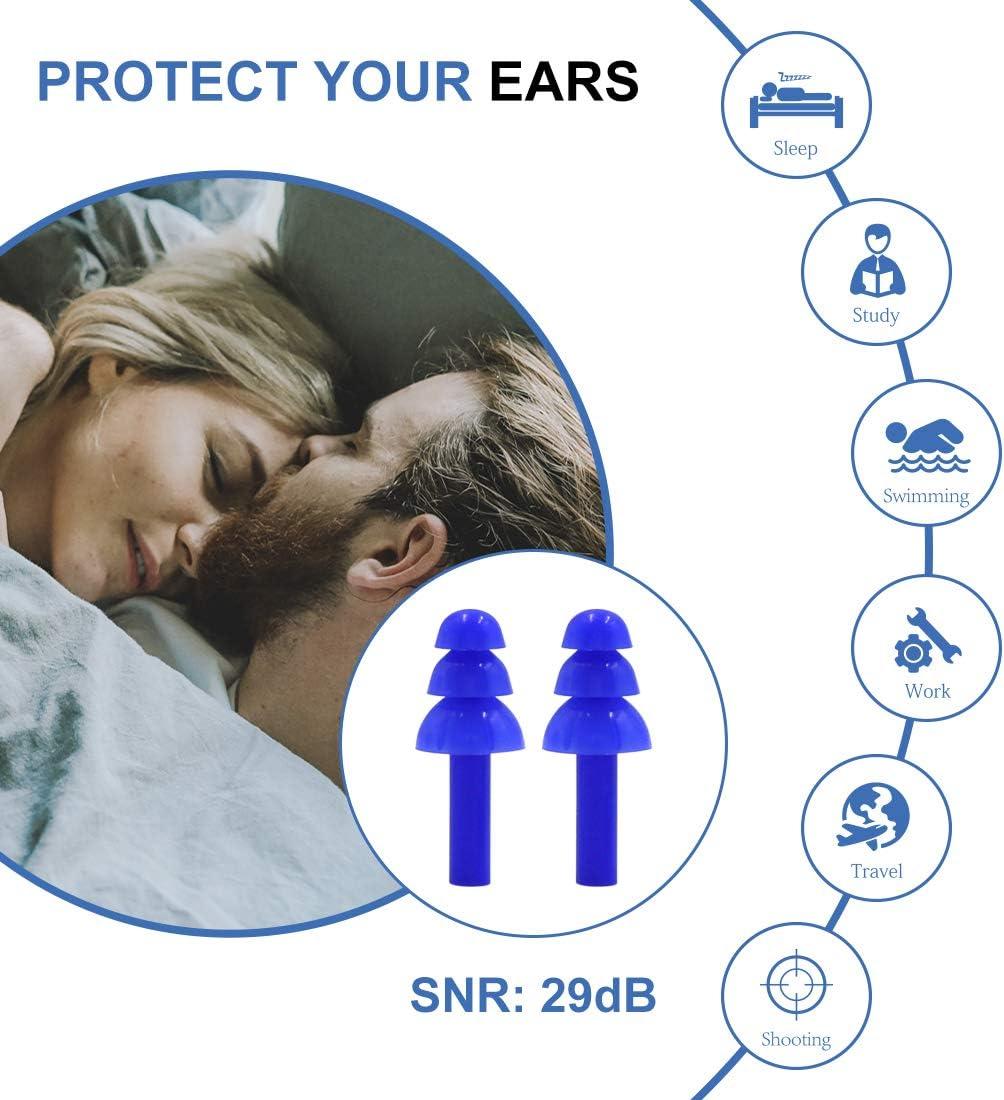 20pcs PU Foam Ear Plugs Anti Noise Snore Earplugs Comfortable For Study SODUS