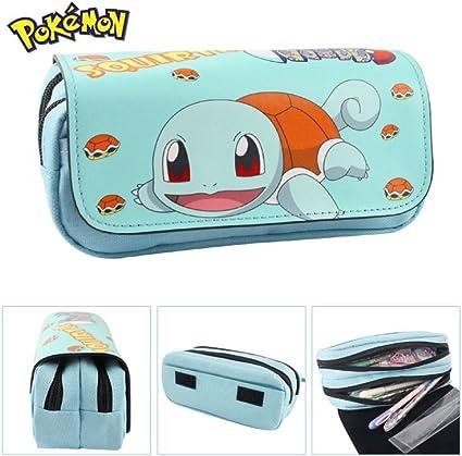 Estuche Escolar dos compartimentos Squirtle Pokemon Go: Amazon.es: Oficina y papelería